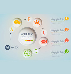 creative infographical data background vector image vector image