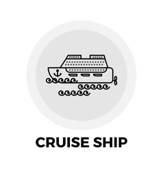 Cruise Ship Line Icon vector image