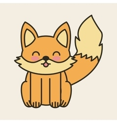 cute fox tender isolated icon vector image