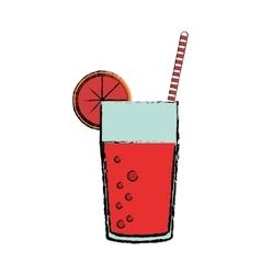 Delicious grapefruit juice vector