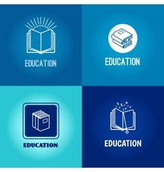 education logo set vector image vector image