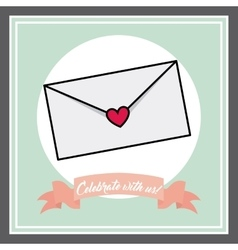 Envelope icon invitation and save the date design vector