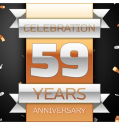 Fifty nine years anniversary celebration golden vector