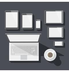 Flat design corporate identity mock-up template vector
