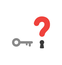 flat design style concept of question mark with vector image vector image