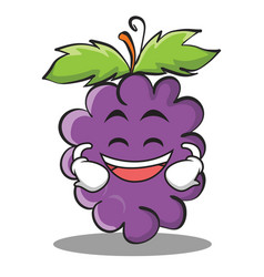 grinning grape character cartoon collection vector image