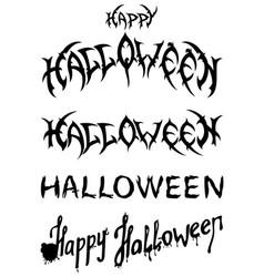 halloween titles set vector image vector image
