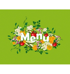Healthy food menu vector