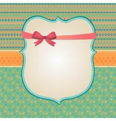 Invitation Card Background Border Frame Patterns vector image