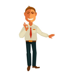 Manager gesturing ok vector
