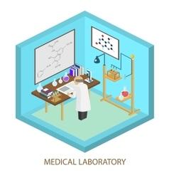 Medical laboratory scientist isometric flat vector