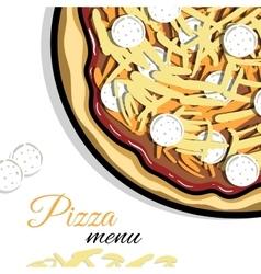 Menu For Pizzeria 6 vector image