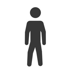 pictogram man silhouette over white background vector image