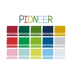 Pioneer color tone vector