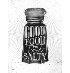 Poster salty food vector