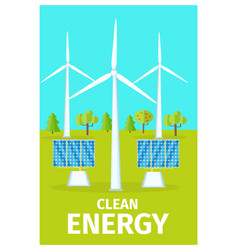 promotional poster dedicated to clean energy use vector image