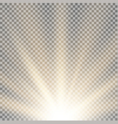 rays of light from below golden color vector image