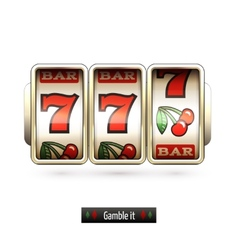 Realistic slot machine isolated vector image vector image