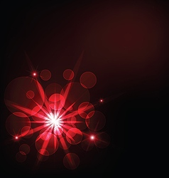 red dark light and bokeh background vector image vector image