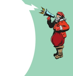 Santa Claus flat design with loudspeakerS vector image vector image