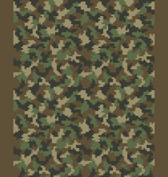 seamless of digital camouflage vector image vector image