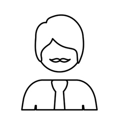 Silhouette half body man with formal suit vector