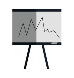 training paperboard isolated icon vector image