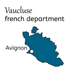 Vaucluse french department map vector