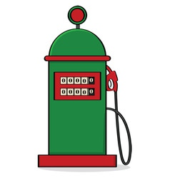 Vintage gas pump vector