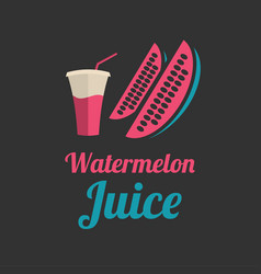 Watermelon juice banner or menu vector