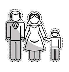Traditional family icon image vector