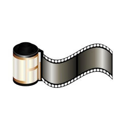 Photo film icon vector image