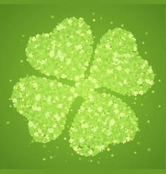 Green four-leaf clover vector