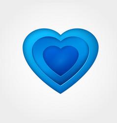 Blue paper heart vector