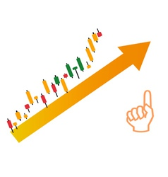 Exchange candlestick vector