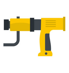 Yellow hand drill icon isolated vector