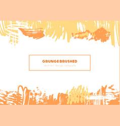 Grunge brush header vector