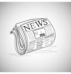 Doodle style newspaper in format vector