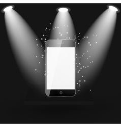 Mobile Phone on Shelve vector image