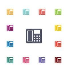 Telephone flat icons set vector