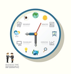 Infographic watch and flat icons idea business vector