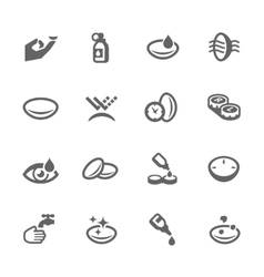 Eye Lens Icons vector image