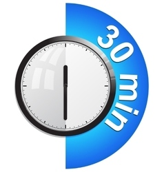 Timer 30 minutes vector