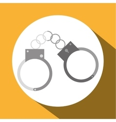 Law and justice handcuffs design vector
