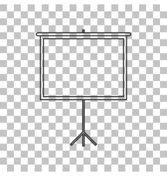 Blank projection screen dark gray icon on vector