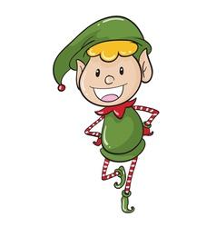 a boy in green joker dress vector image