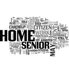 A home for grandma text word cloud concept vector