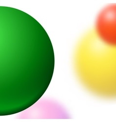 Abstract minimal frame with blurred balls vector image vector image