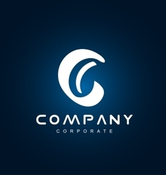 Alphabet letter c small logo icon design vector image