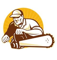 Arborist tradesman vector